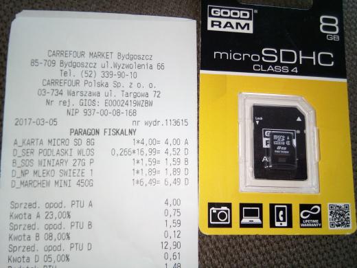Goodram 8gb microSDHC - wyprzedaz Carrefour Market