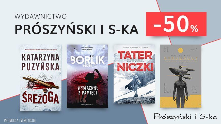 Ebooki i audiobooki wydawnictwa Prószyński i S-ka - 50% (m. in. Gra Endera, Piknik na skraju drogi)
