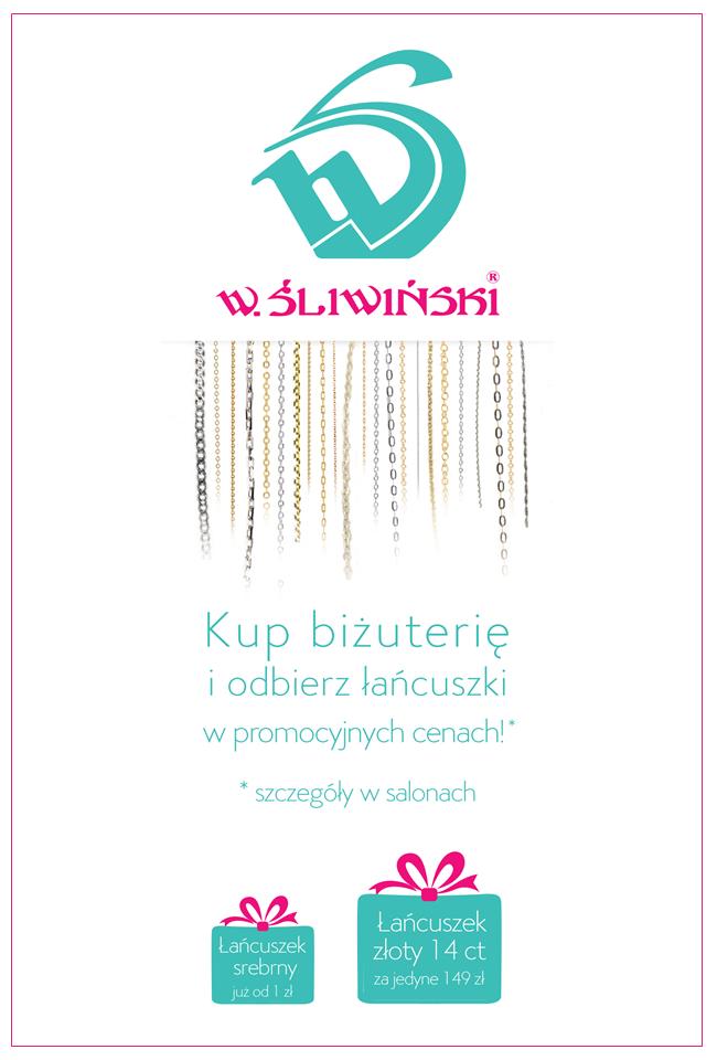 Łańcuszek za 1zł przy zakupie biżuterii za 200zł @ Śliwiński