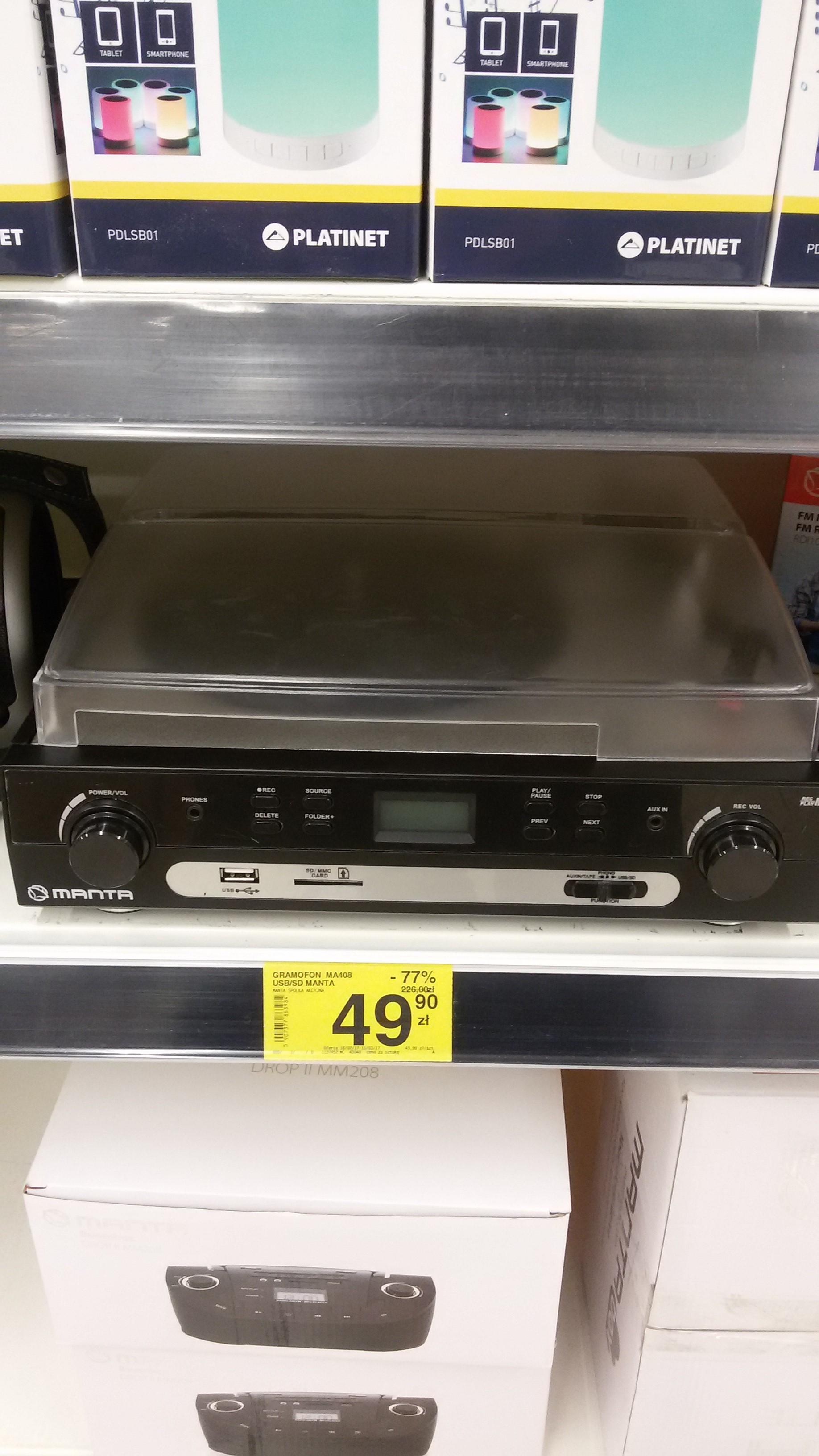 Gramofon Manta MA408, MEGA OKAZJA, Carrefour Toruń