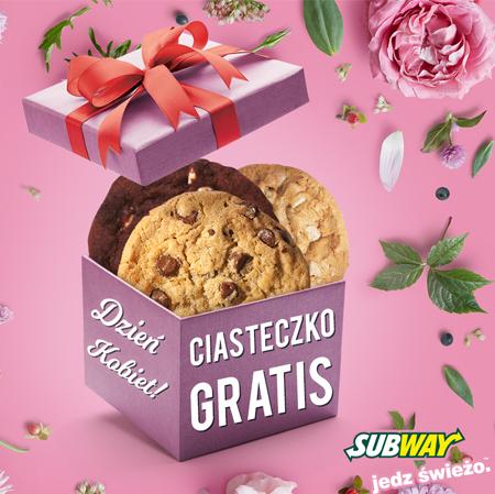 Ciasteczko gratis dla każdej kobiety (nie trzeba nic kupować) @ Subway