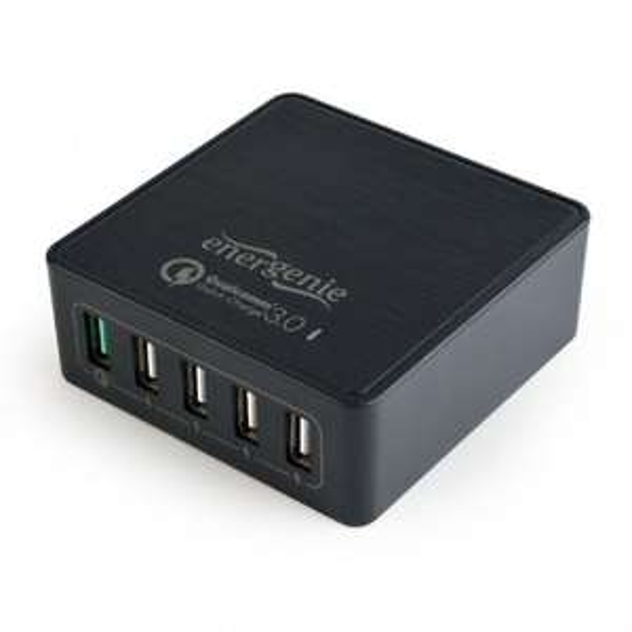 Gembird ładowarka sieciowa Quick Charge USB 3.0 5 port 8A czarna