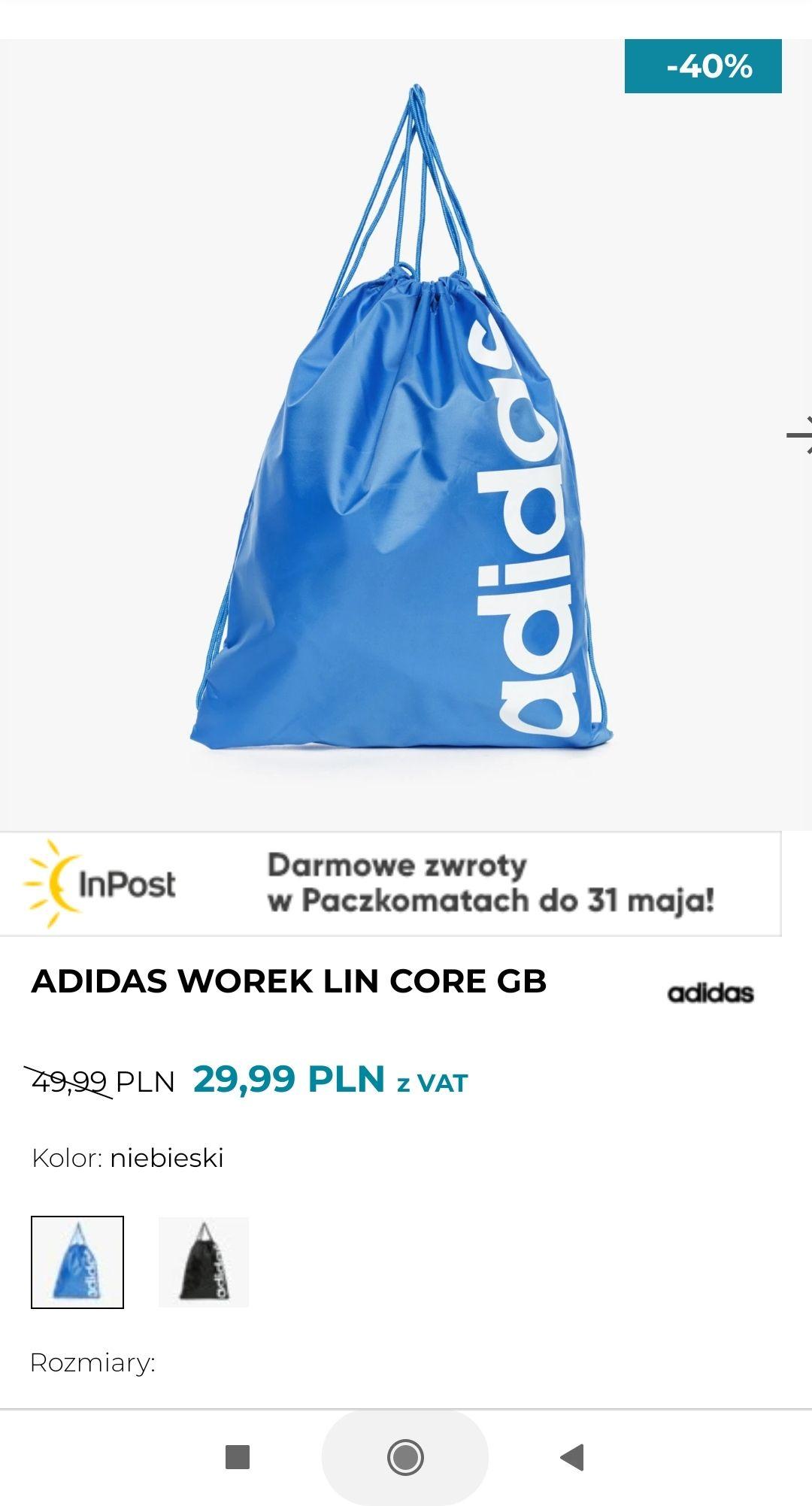 Adidas worek dwa kolory