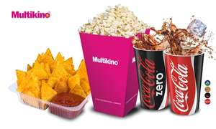 Zestawy przekąsek do 40% taniej np. 14,90zł za średni popcorn+napój (zamiast 24,90zł) w sieci Multikino i Silver Screen @ Groupon