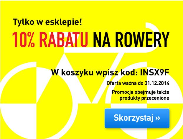 Kod rabatowy -10% na wszystkie rowery @ Intersport