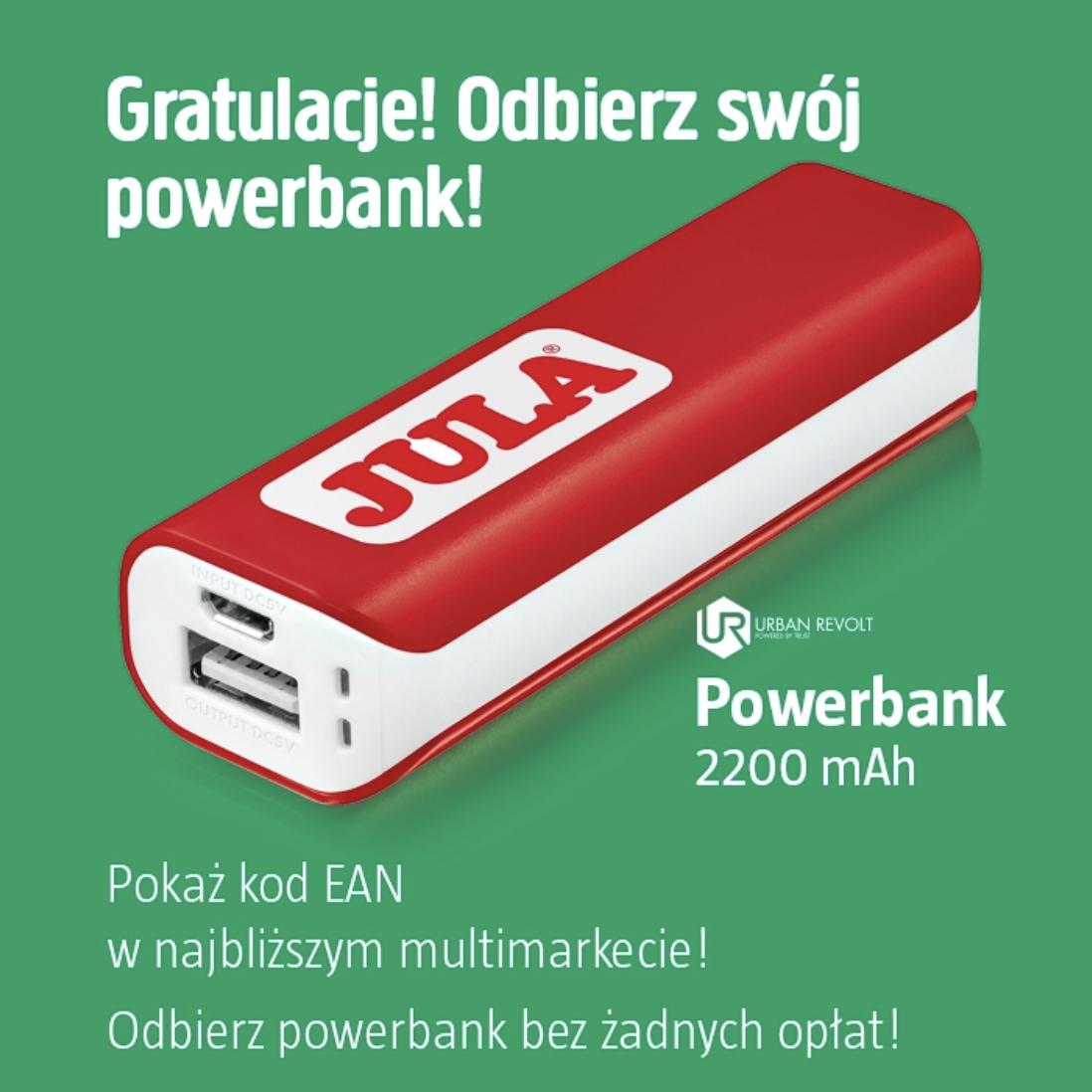 Powerbank 2200 mAh za darmo (z aplikacją mobilną) @ Jula