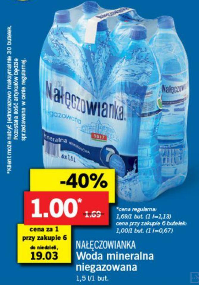 Nałęczowianka woda mineralna niegazowana 6x1,5l @Lidl