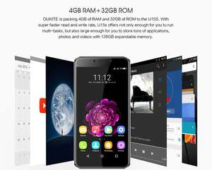 "OUKITEL U15S 5.5"" FHD MTK6750T Octa-core Android 6.0 4G Phone 16MP Panasonic CAM 4GB RAM 32GB ROM Touch ID"