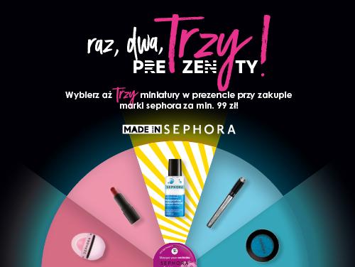 Trzy prezenty przy zakupie produktów marki Sephora za min.99zł @ Sephora