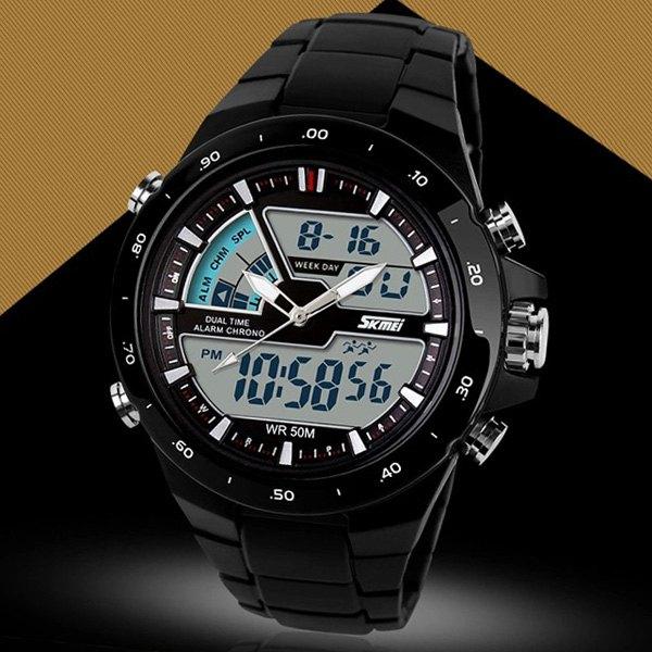 Zegarek Skmei 1016 wodoodporny z podwójnym mechanizmem.
