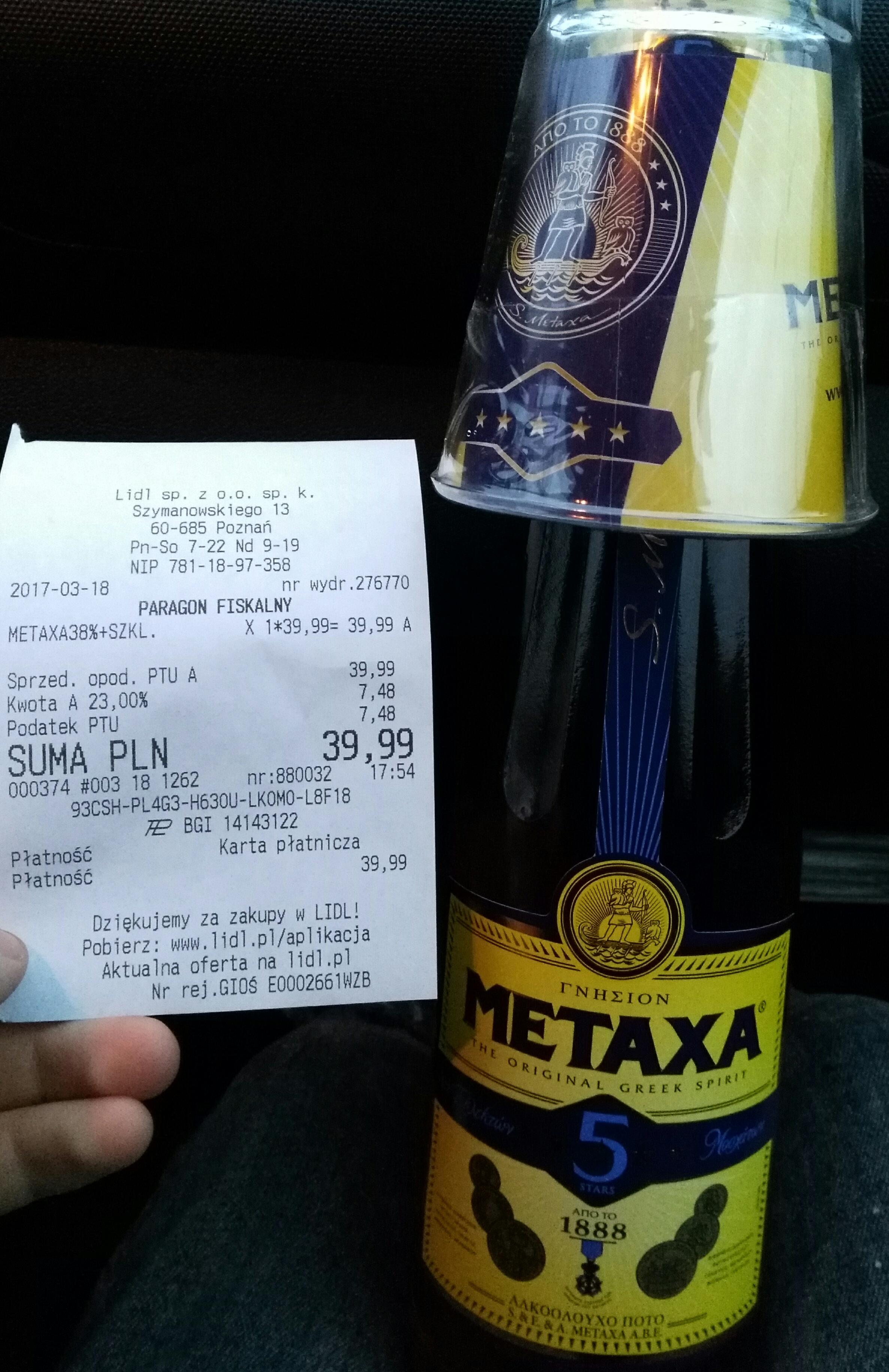 Metaxa 0,7L + szklanka @lidl