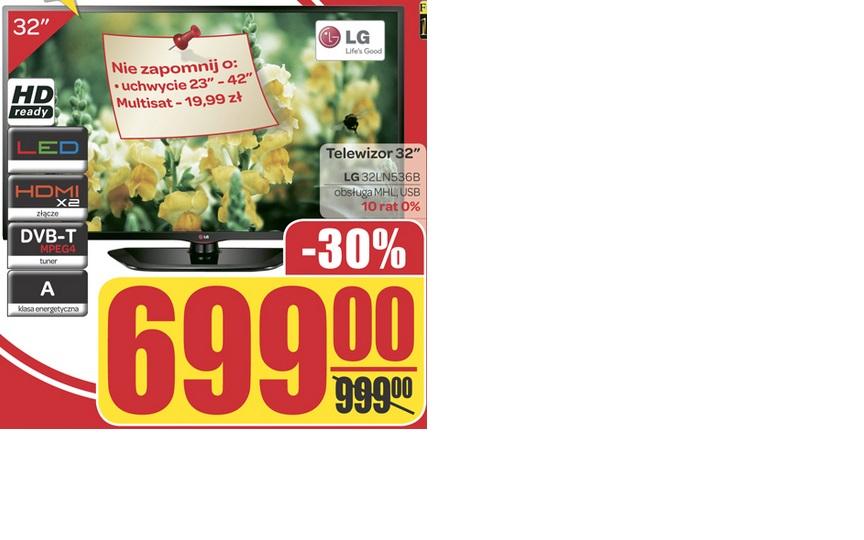 Telewizor 32'' LG 32LN546B za 699 zł @ Carrefour