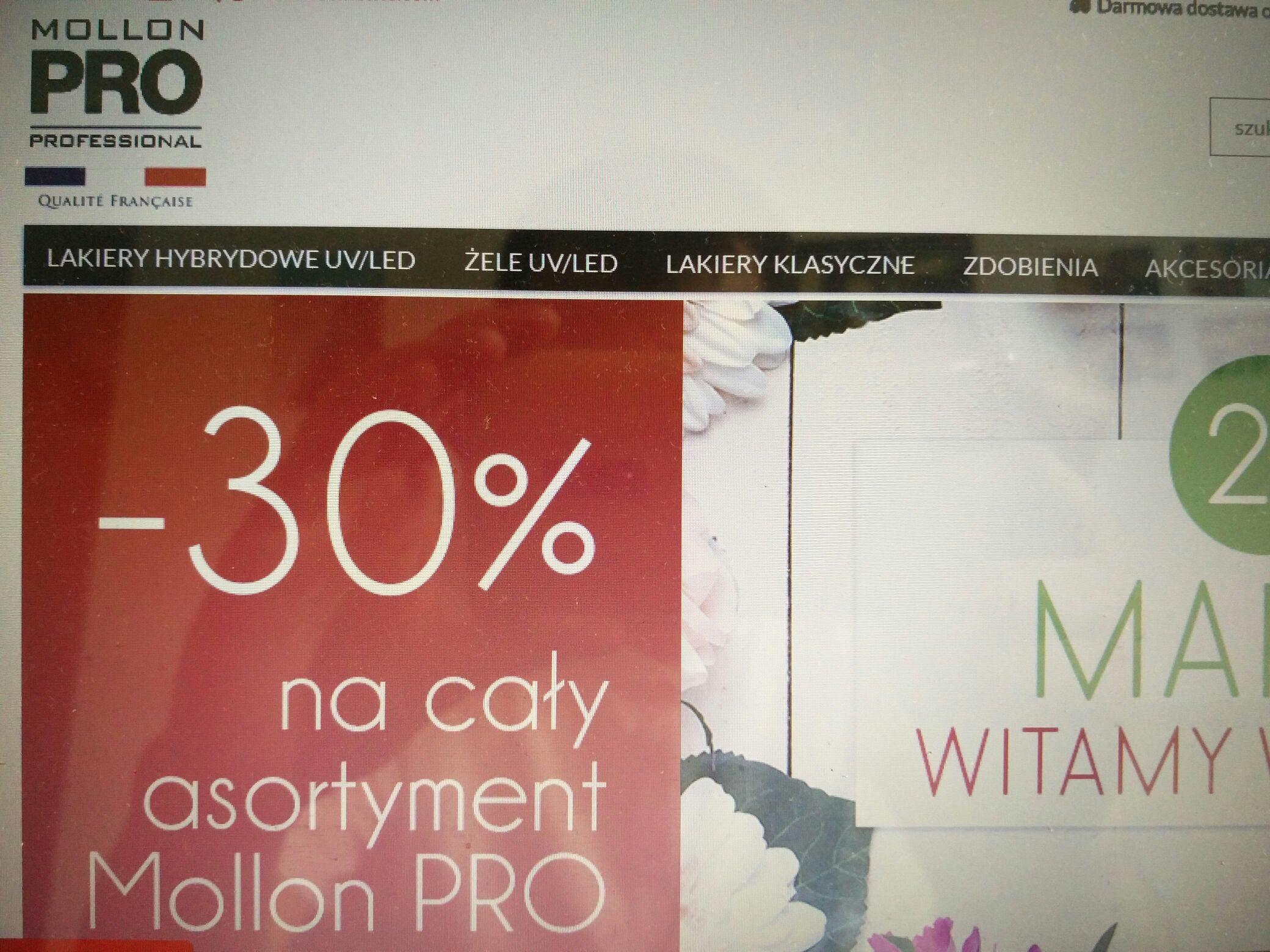 30% zniżki na profesjonalne kosmetyki Mollon PRO