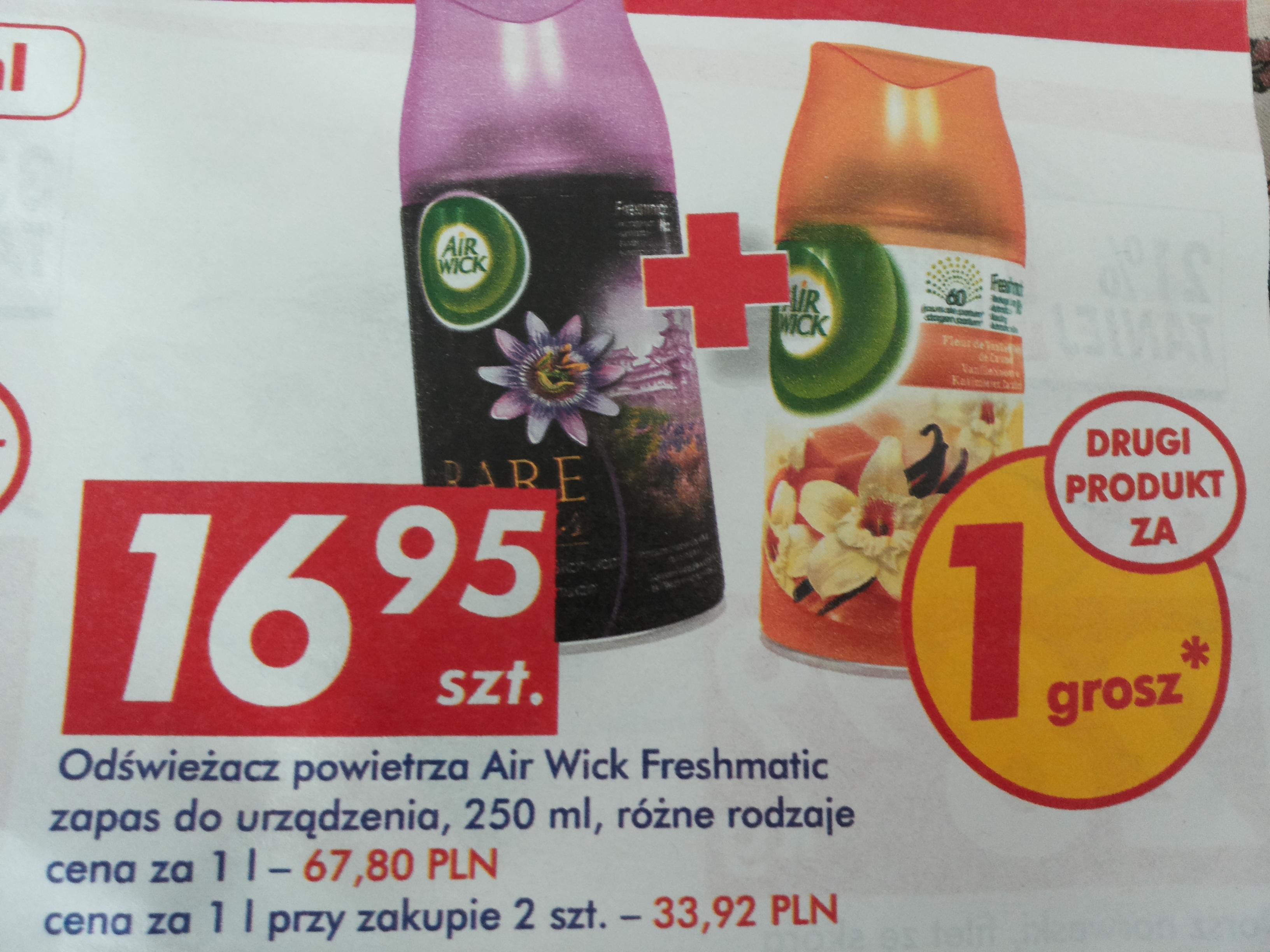 Odświeżacz powietrza Air Wick Freshmatic za 16,95zł + drugi za GROSZ @ Auchan