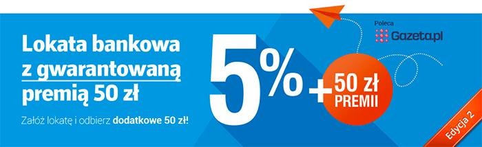POWRACA 3 edycja: 50zł premii za założenie 3 miesięcznej lokaty HAPPY (5% w skali roku, min. 1000zł) @ Idea Bank