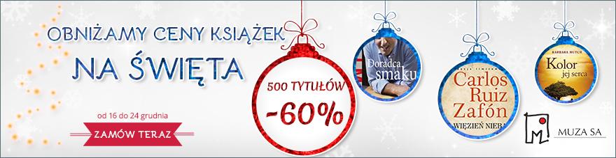 Aktualizacja! 30% rabatu na 500 pozycji książkowych @ Muza