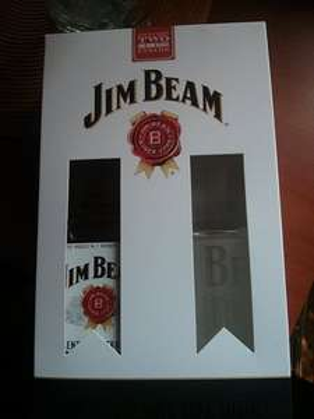 Jim Beam 0.7l + dwie szklanki TESCO