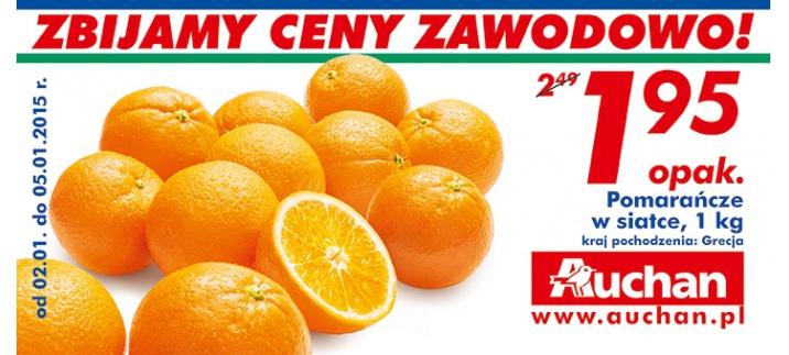 Pomarańcze 1kg za 1,95zł @Auchan