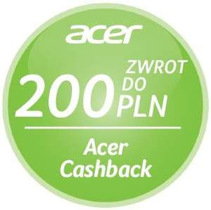 ACER CASHBACK - NAWET 200 PLN @ 12 SKLEPÓW