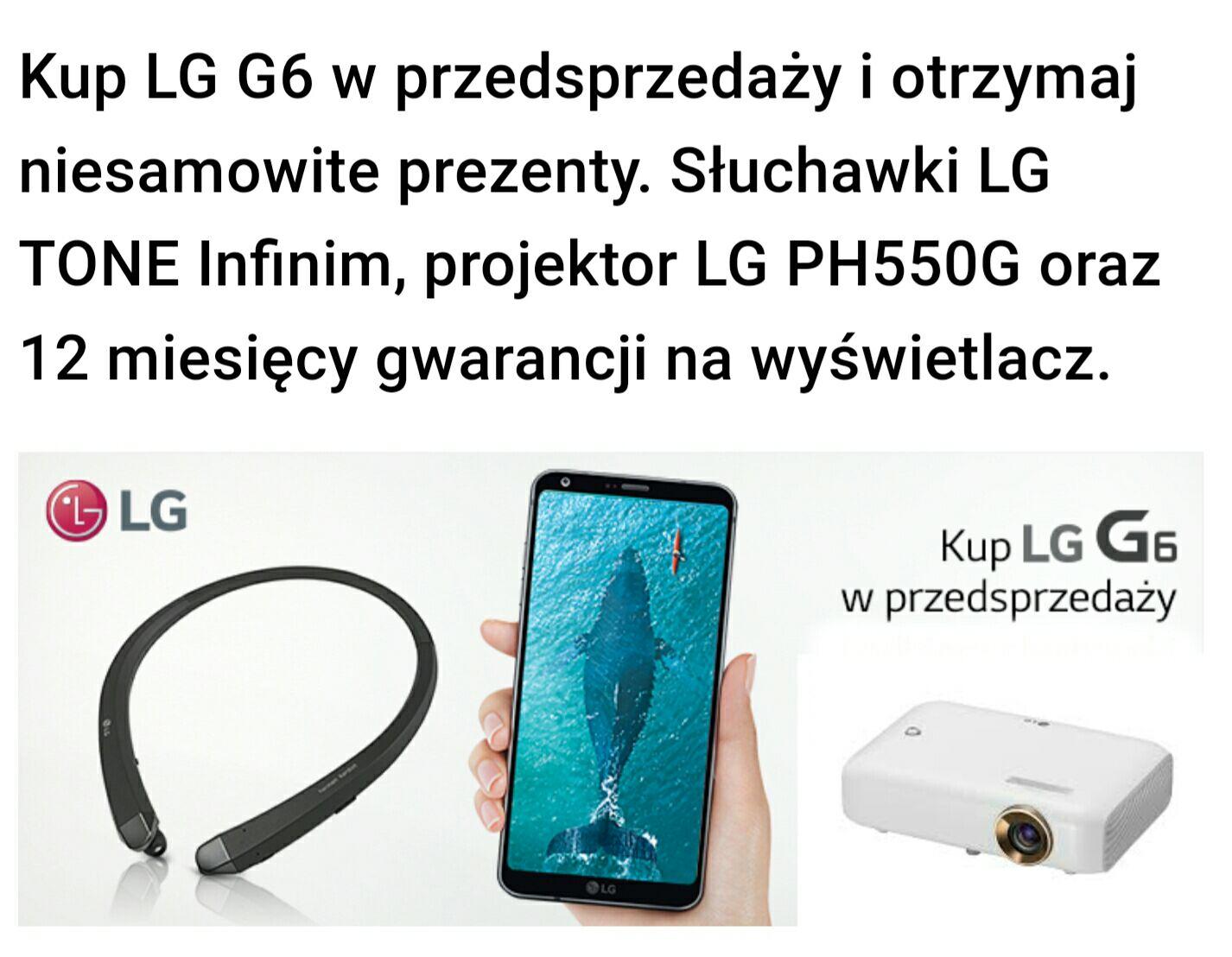 LG G6 + HBS-910 w Play za 1 zł