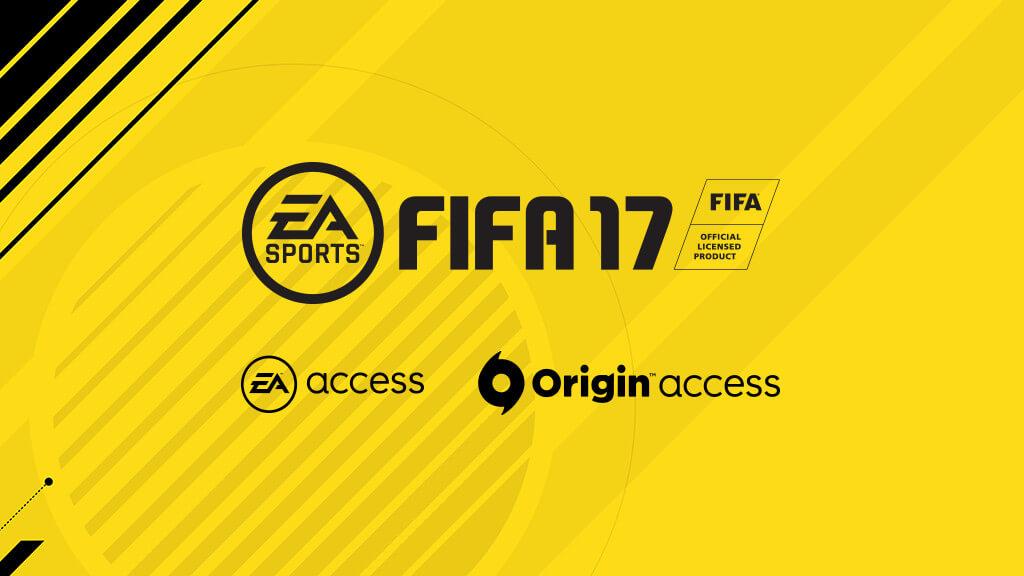 Fifa 17 w usłudze EA i ORIGIN ACCESS
