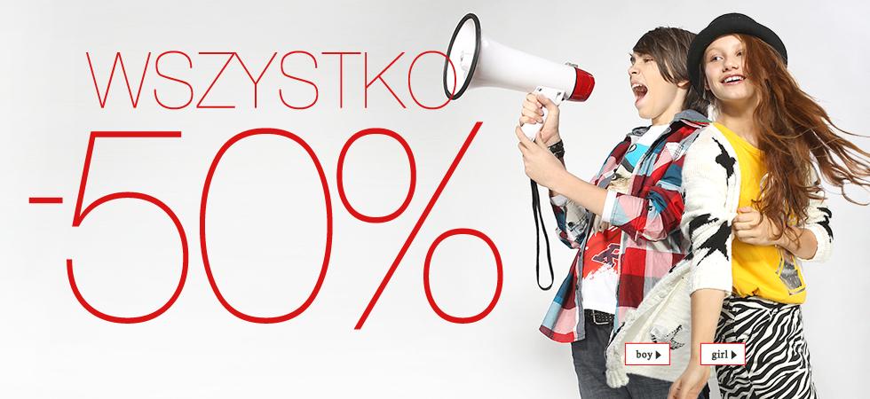 Wszystkie produkty tańsze o 50% @ Reporter Young