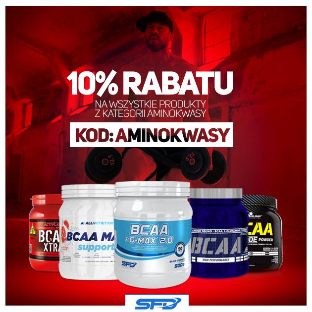 10% rabatu na wszystkie aminokwasy