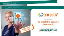Kupon na bezpłatne badanie poziomu cholesterolu @ Proaktywniedlaserca.pl