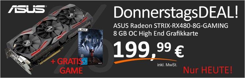 Okazja w computeruniverse za Radeona RX480 Strix 8gb wraz z kodem na grę Prey.