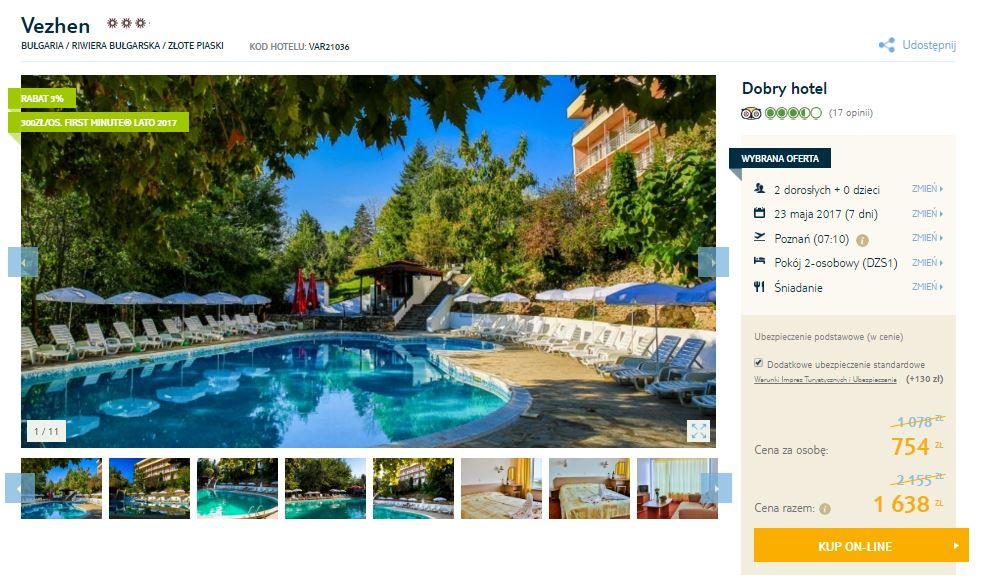 7 dni w Bułgarii (przelot, hotel, śniadania) za 1508zł dla 2 osób @ Tui