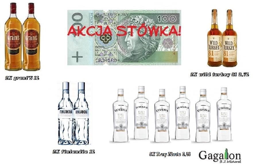 Akcja stówka! Zestawy alkoholi za 100 zł (Śląsk)