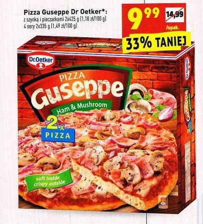 2x Pizza Guseppe Szynka i pieczarki Biedronka