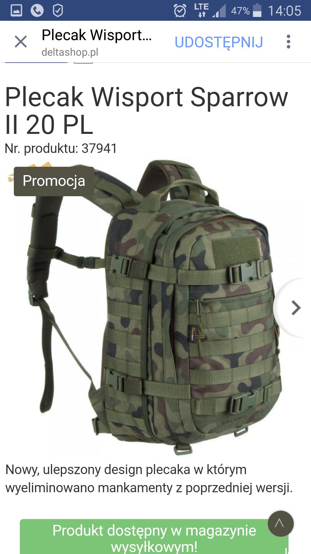 Plecaki Wisport i militaria