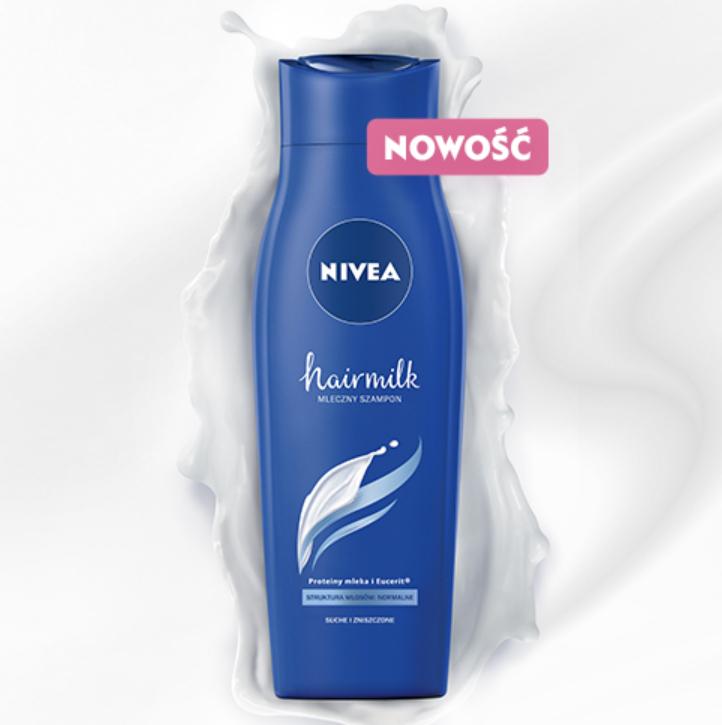 Zwrot 12 zł za szampon Nivea Hairmilk w Żbiku