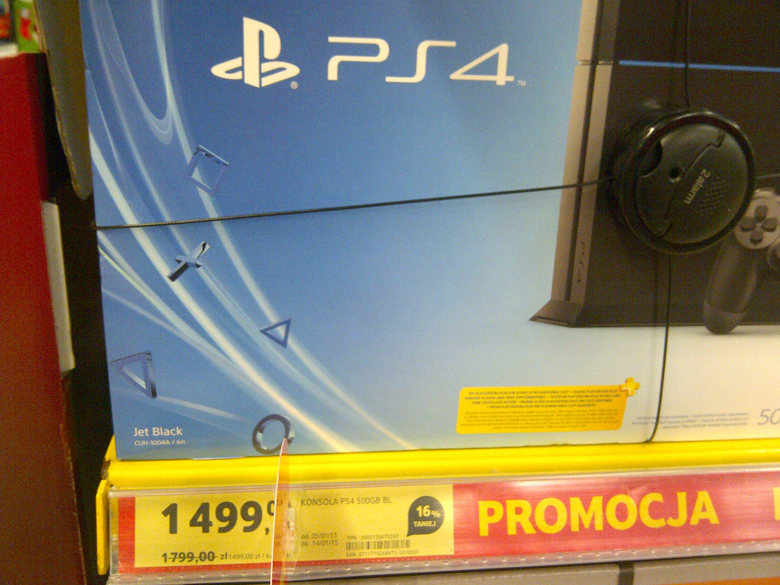 Konsola Playstation 4 500 Gb za 1499 zł @ Tesco
