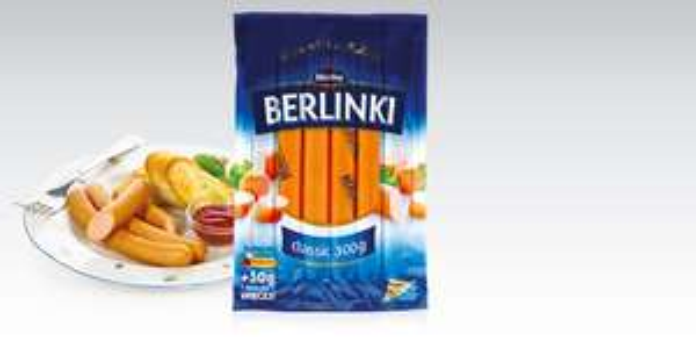 Parówki Berlinki classic 300g za 3,83zł @ Biedronka
