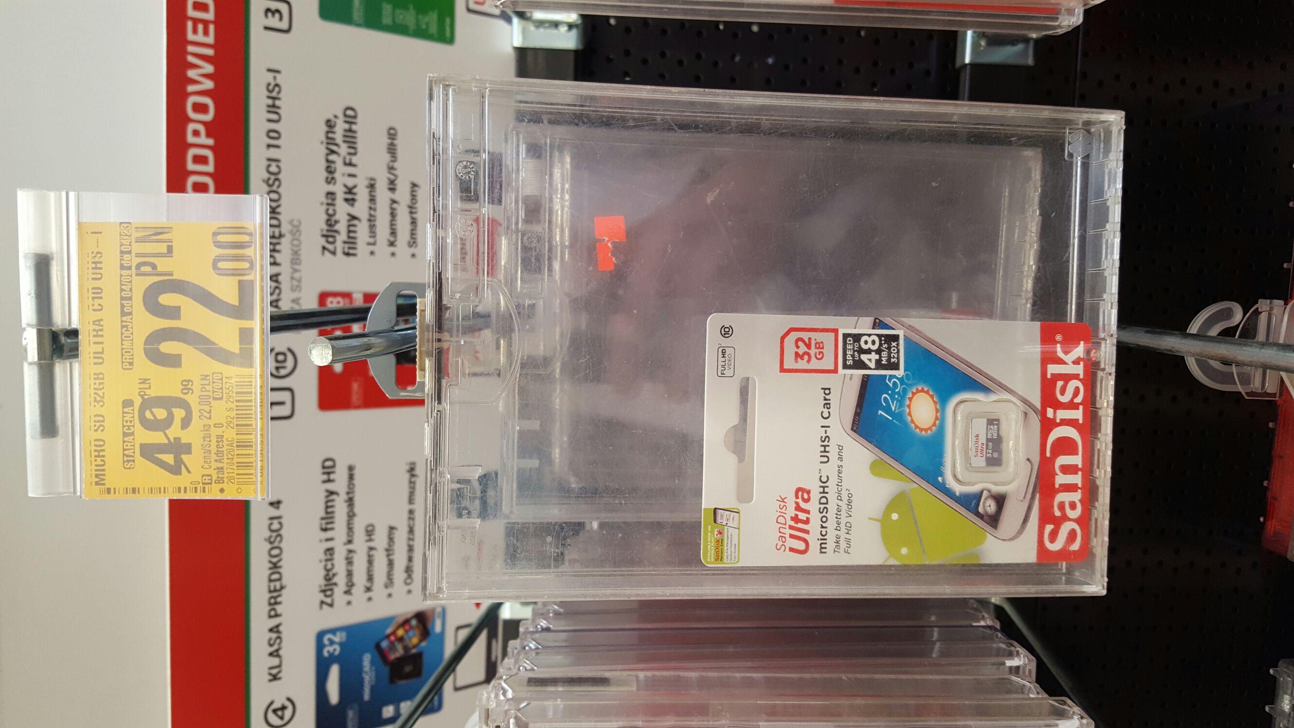 Extra cena! Karta Sandisc Ultra 32GB w najlepszej cenie (Auchan - Warszawa Ursynów)
