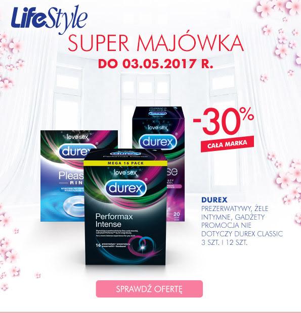 -30% na markę Durex (prezerwatywy, żele, gadżety) @ Super-Pharm