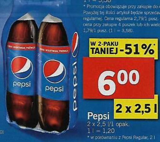 Pepsi 2x2,5l i nie tylko @Lidl