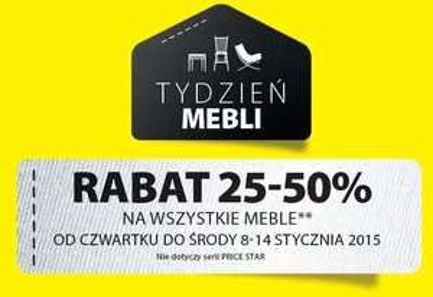 Rabat 25-50% na wszystkie meble @ JYSK