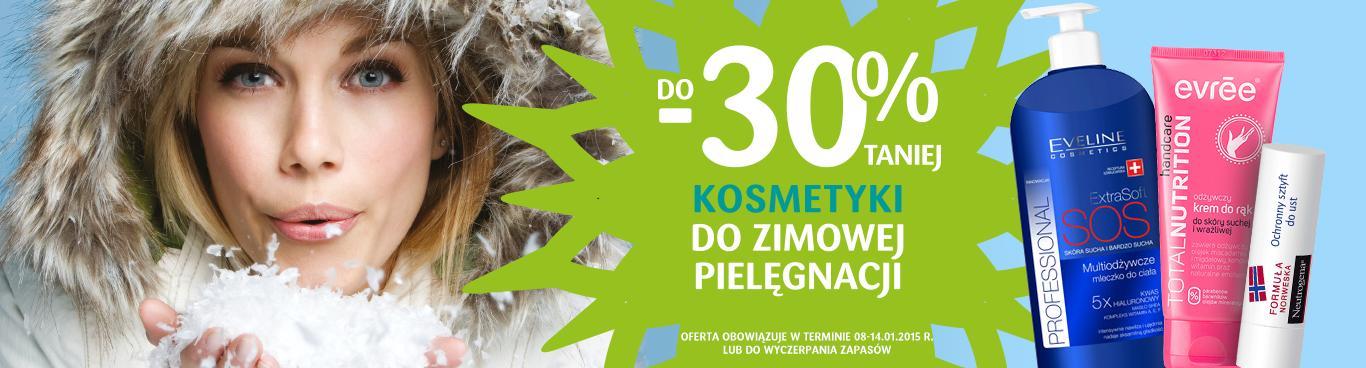 Kosmetyki do zimowej pielęgnacji z rabatem 30% @ Drogerie Natura