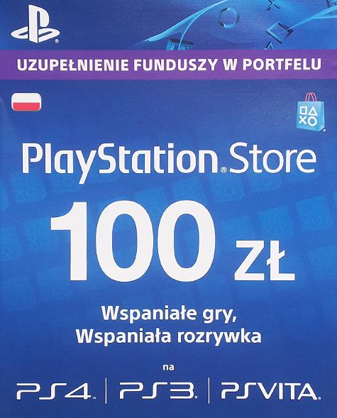 Kod doładowujący konto PlayStationNetwork o równowartość 100zł @ Inexus