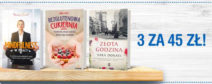 Trzy książki za 45zł @ Tania Książka