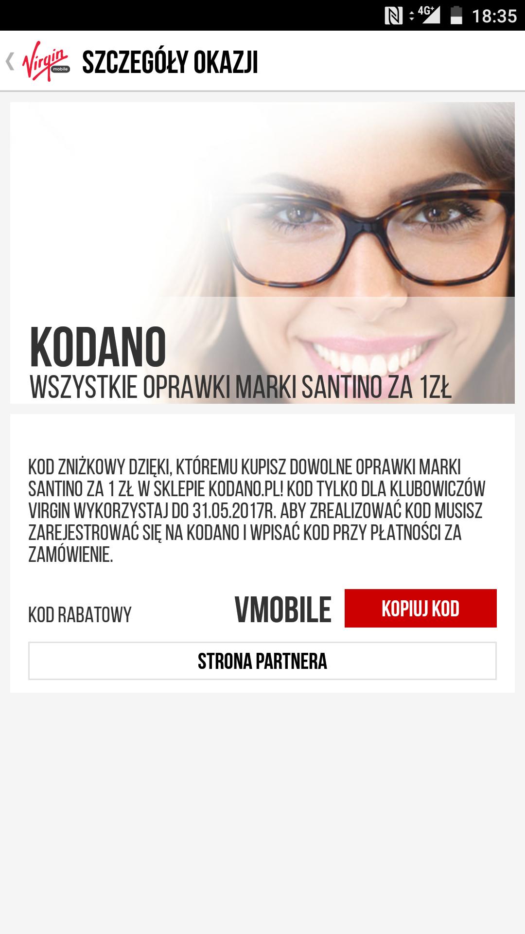 Kodano.pl - wszystkie oprawki Santino za 1zł, łącznie z najtańszymi szkłami powinno wyjść około 31zł.