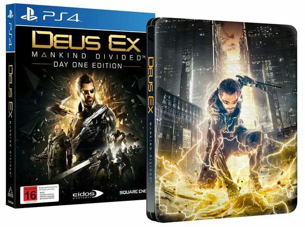 Deus Ex Mankind Divided Steelbook Edition za 72 zł @365games.co.uk