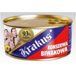Konserwa Biwakowa Krakus 93% mięsa.