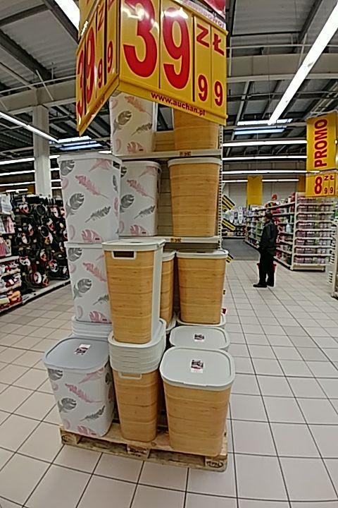 Auchan Kosz na pranie Curver Infinity 60L