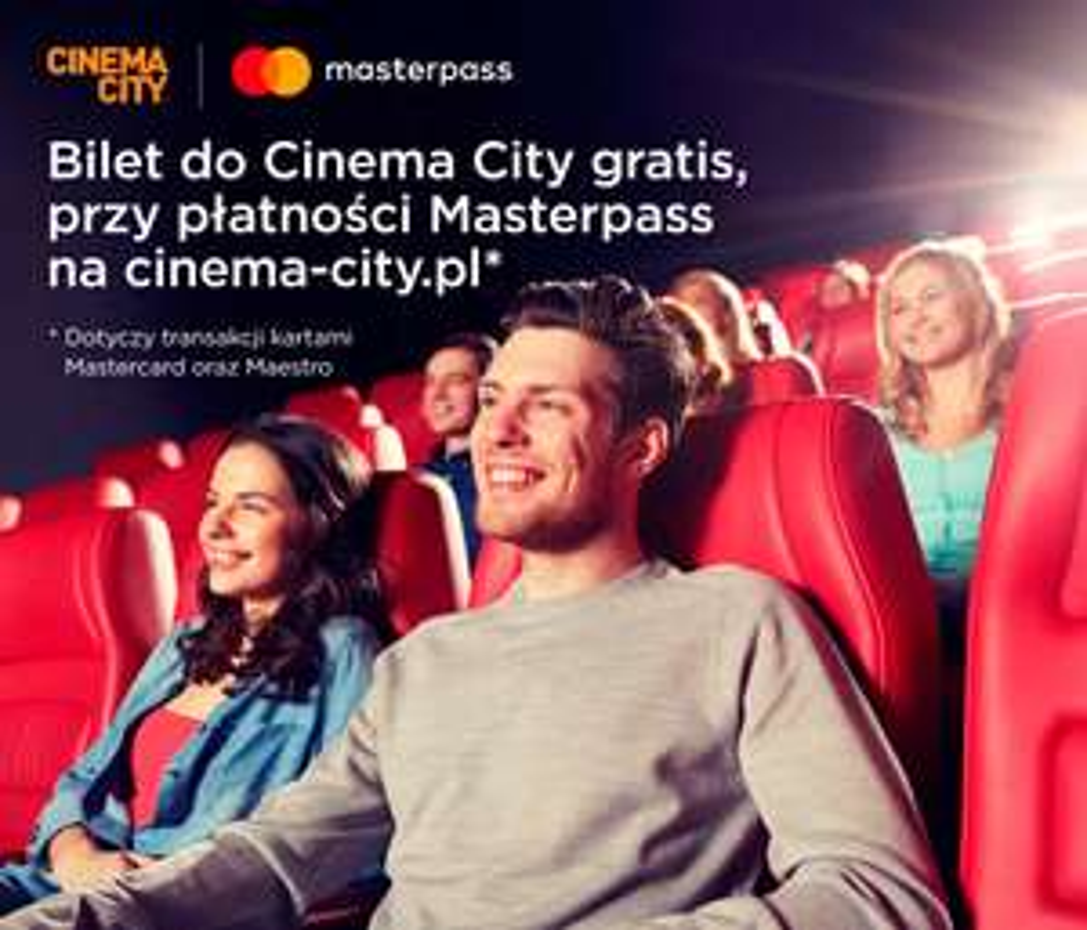 Drugi bilet do Cinema City gratis przy płatności portfelem MasterPass. [#3]