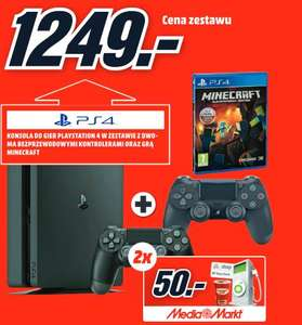 Playstation 4 + PAD + Minecraft + 100zł na paliwo BP @MEDIAMARKT (Katowice)