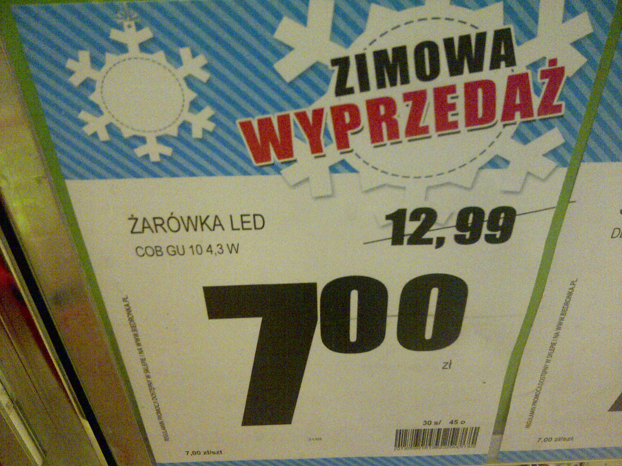 Żarówka LED COB za 7 zł @ biedronka